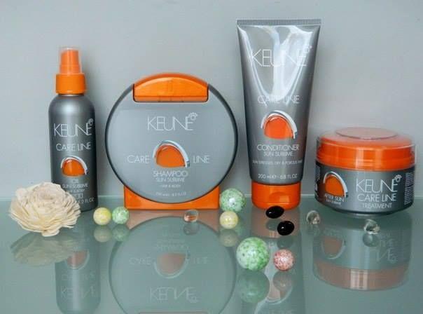 """Солнечная линия """"Экстразащита"""" Шампунь, Кондиционер, Маска, Увлажняющее масло для волос и тела.  http://www.keune.md/index.php?pag=cproduct&cid=590&l=ru  Природные минералы, ультрафиолетовые фильтры и протеины восстанавливают и защищают волосы от воздействия окружающей среды.  Результат: роскошные, шелковистые и блестящие волосы, легкие в расчесывании и укладке."""