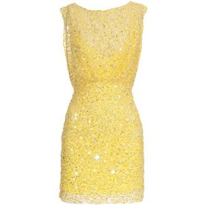 Jenny Packham yellow star sequin cocktail