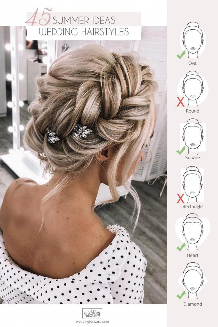 45 Stunning Summer Wedding Hairstyles ❤ Summer wedding hairstyles are different, because brides have many options for long hair or medium hair. We h...