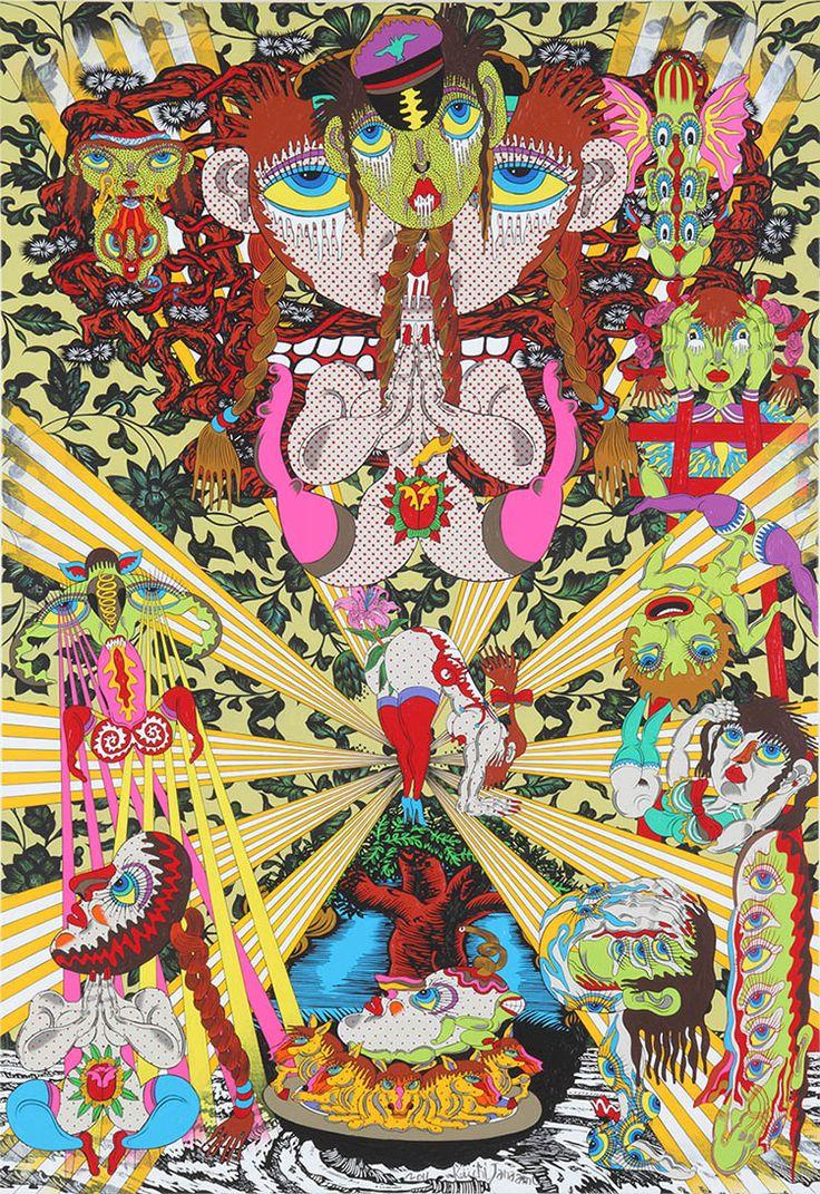 Peintures psychédéliques par Keiichi Tanaami