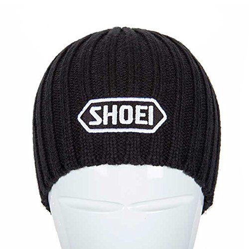 Shoei Motorcycle Helmets Acrylic One Size Beanie Hat - Black--13.99
