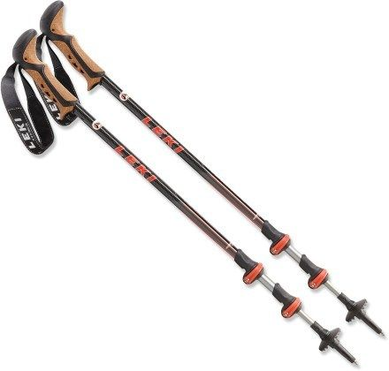 Poles. A necessity in my book. I use Leki corklite Aergon Speedlock poles. Not the lightest but I like them!