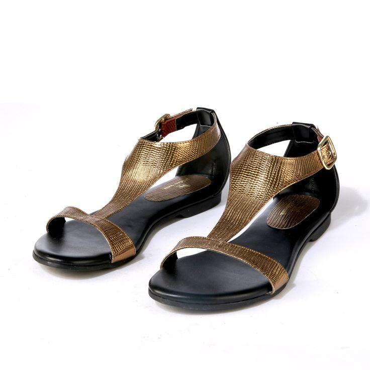 Buy Metallic Sandals@INR 1076 www.prideswalk.com