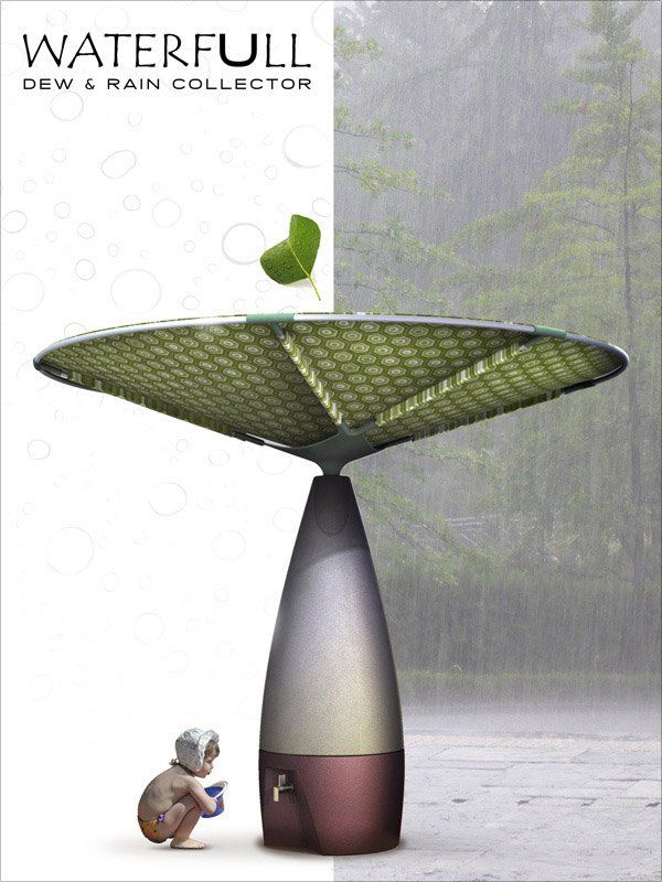 Waterfull Dew And Rain Collector Designboom Com Rain Water Collection System Rain Rainwater Harvesting
