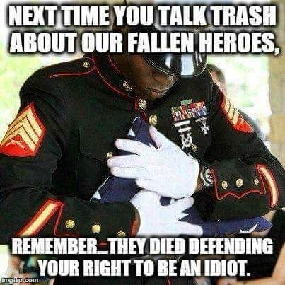 Thank you heroes! We appreciate your service. Ignore the idiots.