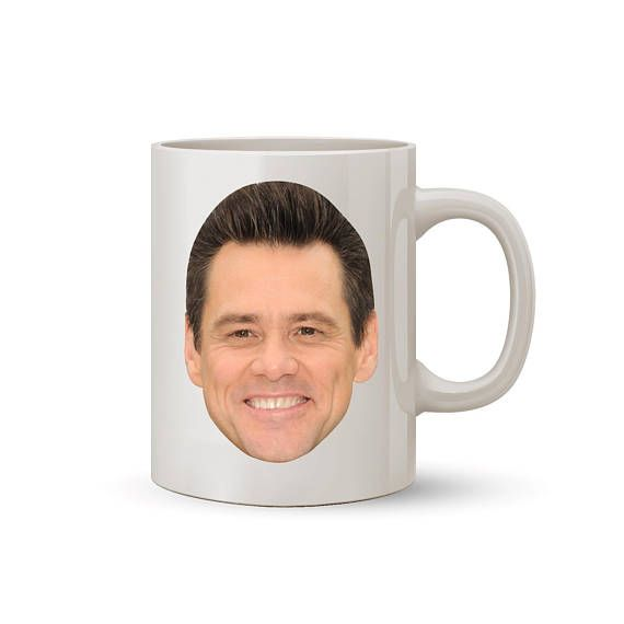 Jim Carrey Face Mug Coffee/Tea Mug  Perfect Gift for