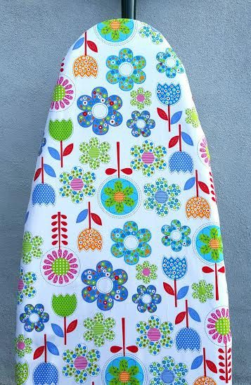 IRONING BOARD COVER Fantasy Flowers Colourful Organic Cotton Fabric Soft, high quality Natural Scandinavian Style Elastic Around Edges  Approx Size: Normal: 54 (~137 cm) x 15 (~38cm)  Select your style:  >Cover Only >3 ply cover (fire retardant, thermal)  Any special size to order  Perfect creative handmade gift   Note: 2, 3, 4 photos are references only. This listing is for ONE Ironing Board Cover in the style of your choice.    Are you looking for ironing (pocket) basket in same style?…