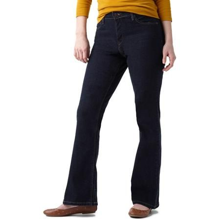 Signature by Levi Strauss & Co. Women's Totally Slimming At-Waist Bootcut Jeans - Walmart.com