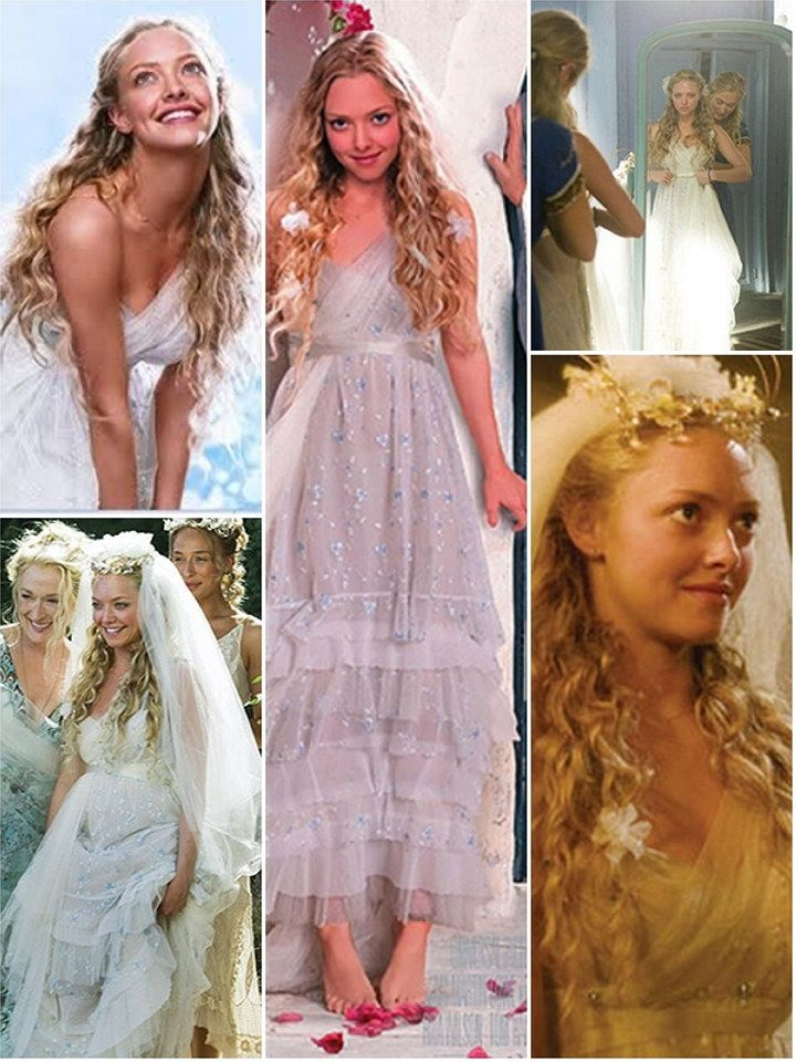 Iconic Wedding Dresses In Film: Mamma Mia! I don't know why, but I absolutely adore this dress!