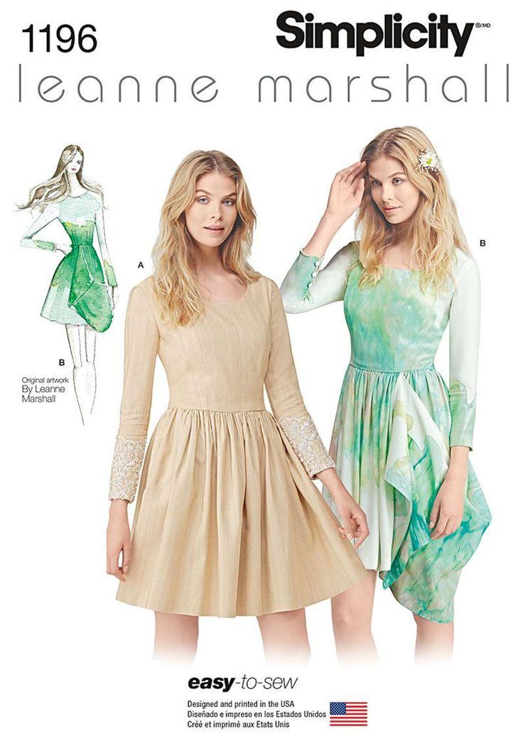 Simplicity Pattern 1196D5 4-6-8-10-1-Dresses