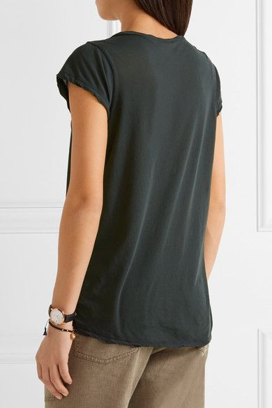 James Perse - Cotton-jersey T-shirt - Forest green - 4