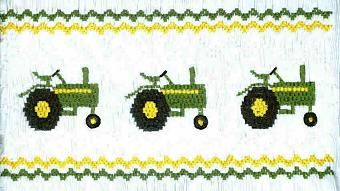 Tractor - Machine Smocking by Elizabeth's Embroideries www.elizabethsembroideries.com