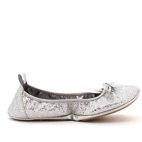 GOODTIMES 2 foldable flats in silver multi. #mybetsonBetts #BettsRaceDayReady #BettsShoes #shoes