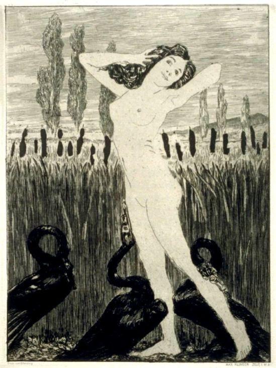 Max Klinger. Am see, plate 3 in the book, Zelt ,Berlin,Amsler & Ruthardt 1923