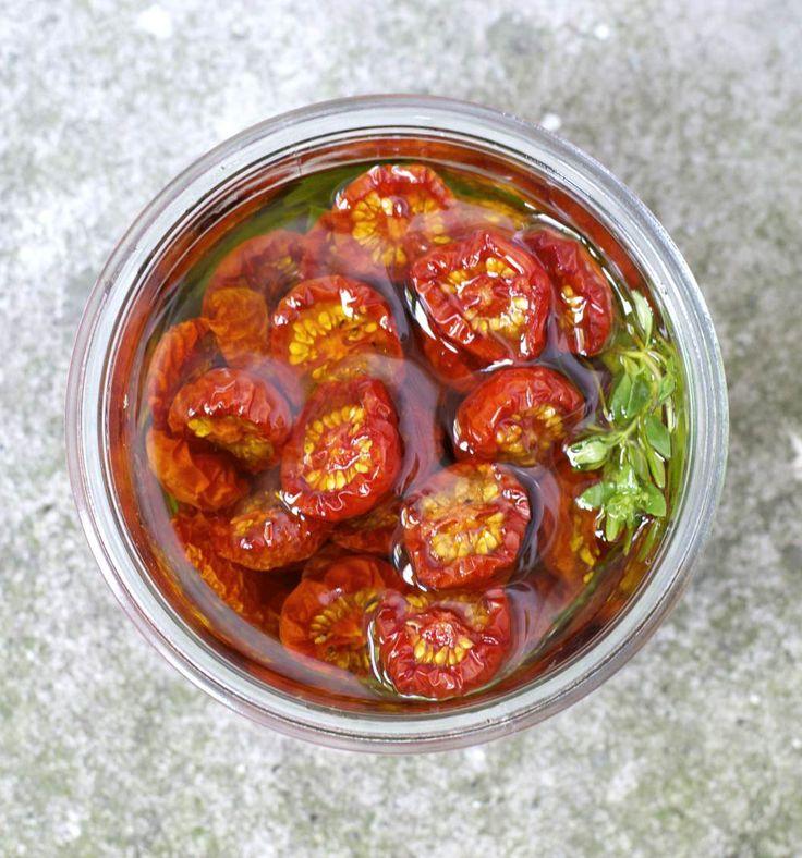 Zongedroogde tomaten #recept #happylittlekitchen