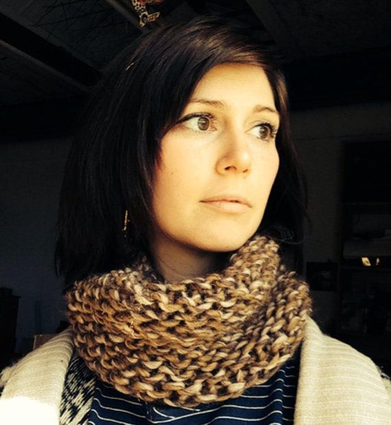 Chunky Brown Snood on Etsy, £15.00