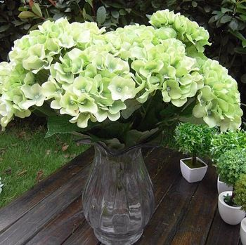 10 best artificial flowers hydrangea images on pinterest gnw fl hy58 7 15cm wholesale high quality bulk green fabric artifical hydrangea mightylinksfo Image collections