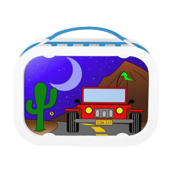 My Car Jeep, Cute School Lunch Boxes for Children. #cute #school #lunchboxes #forchildren