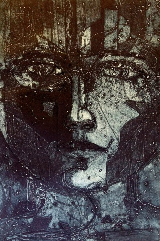 printmaking art by jet james    collagraph artwork