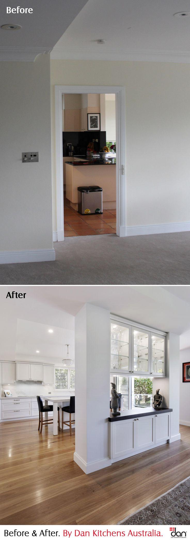 Cremorne Point Apartment Kitchen. Before & After. #DanKitchensAus
