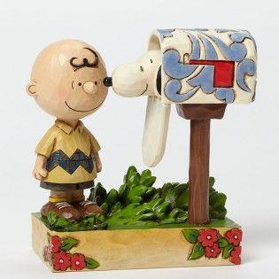 Jim Shore Peanuts Charlie Brown Mailbox