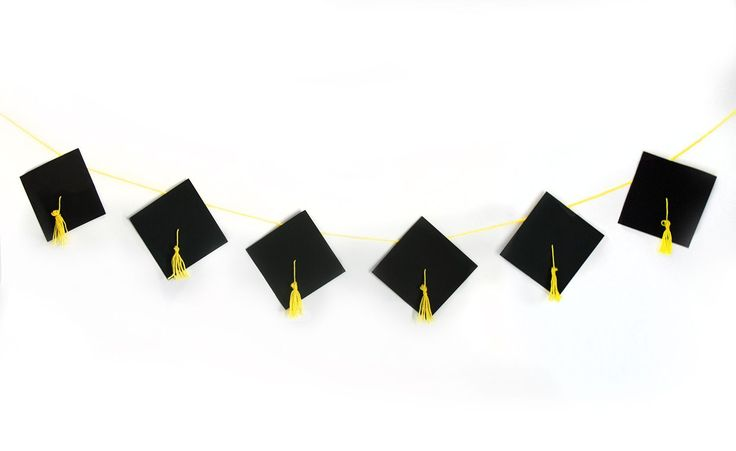 DIY Graduation Banner: Celebrate your family's graduates huge milestone by honoring them with a party complete with a DIY graduation cap banner.