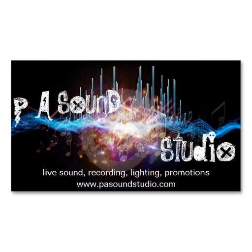 42 best career images on pinterest recording studio audio sound engineer business card fandeluxe Gallery