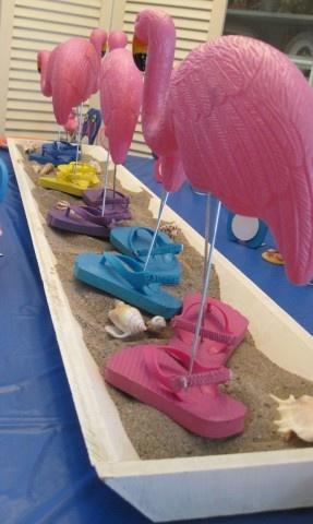 Flip Flops and Flamingos!  LOVE IT!!