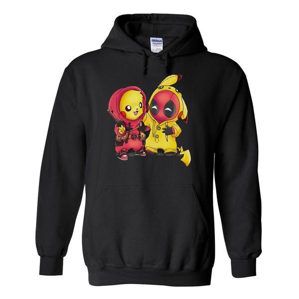 6dc99cccb Pikapool Pikachu Deadpool Hoodie