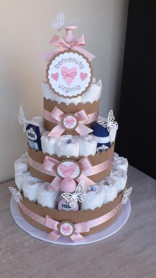 Popolare Oltre 25 fantastiche idee su Torte di pannolini su Pinterest  WL38