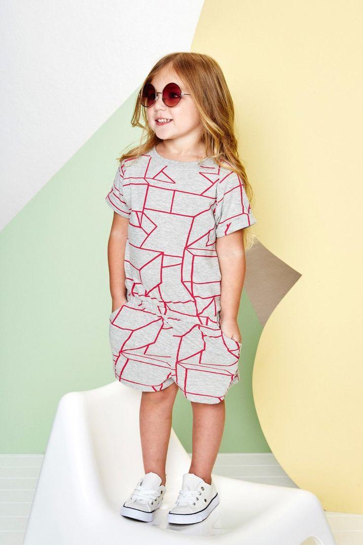 Pink Geo Jumpsuit by Baobab Clothing ⌇ Juniors Design Blog ⌇ www.juniorsdesignblog.com