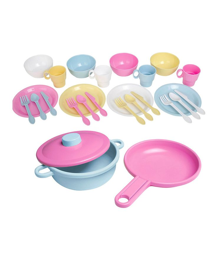 Look at this #zulilyfind! KidKraft Pastel Cookware Set by KidKraft #zulilyfinds