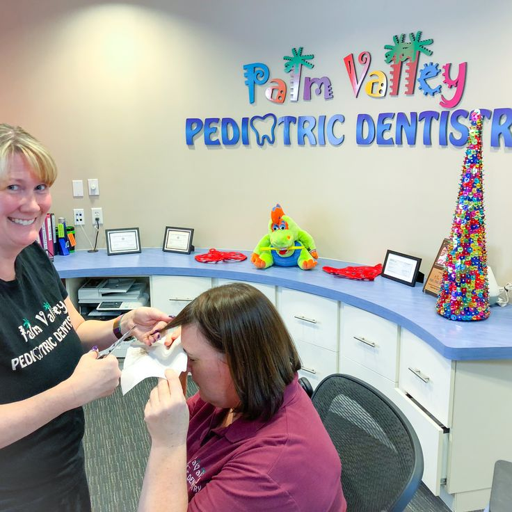 Free bang trimming at Palm valley pediatric dentistry pvpd goodyear avondale surprise phoenix litchfield park verrado dental kids children www.pvpd.com