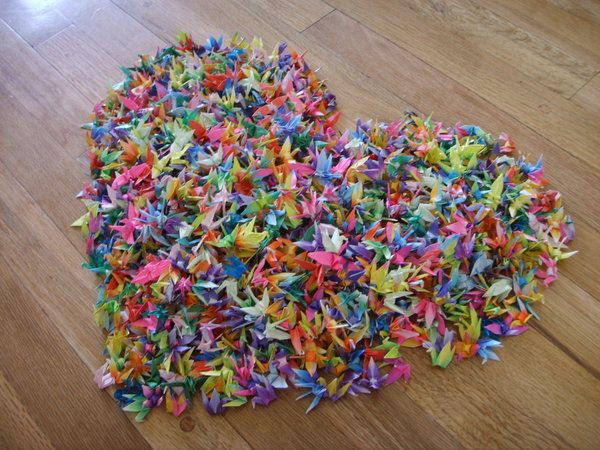 fold 1000 paper cranes and give to someone special