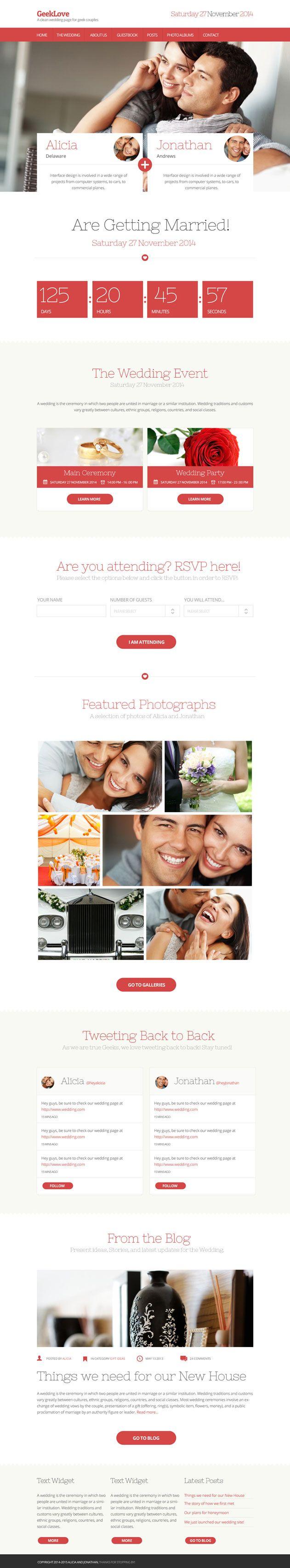 geeklove-responsive-wedding-theme #weddingwebsite #websitetheme #trends2014