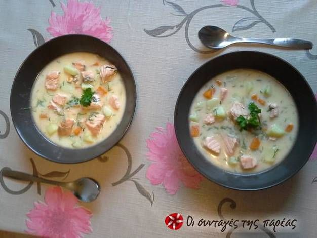 Παραδοσιακή Φινλανδική σούπα σολομού