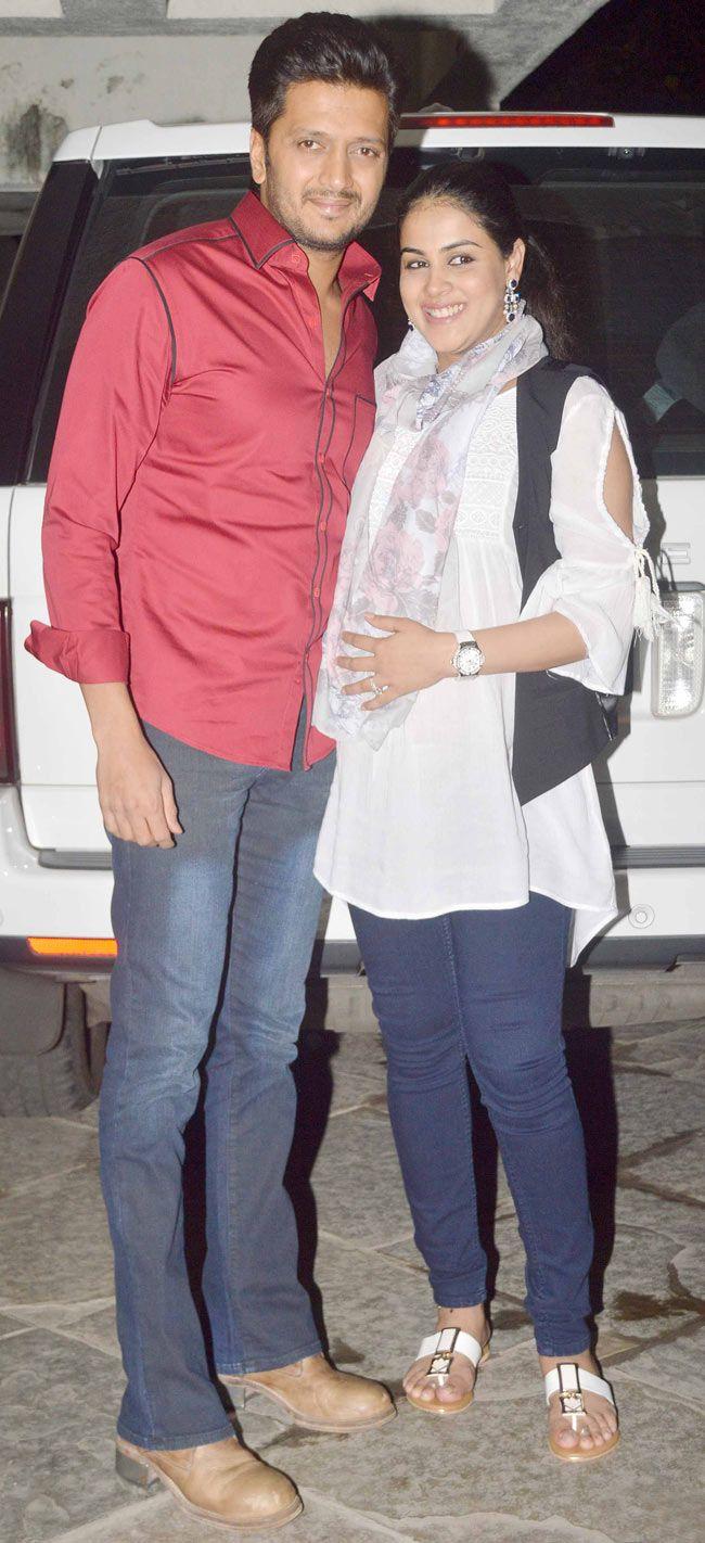 Riteish Deshmukh and Genelia D'Souza Deshmukh at Sonali Bendre and Goldie Behl anniversary bash. #Bollywood #Fashion #Style #Beauty