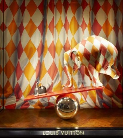 Louis Vuitton Circus Elephant Window Display