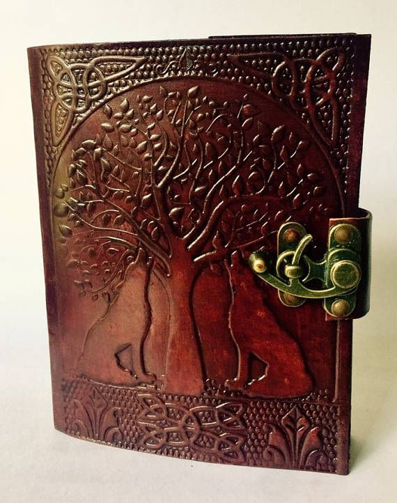 Leather Journal Weirwood and Wolves Leather Journal Heart