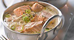 Une recette gourmande de blanquette de saumon