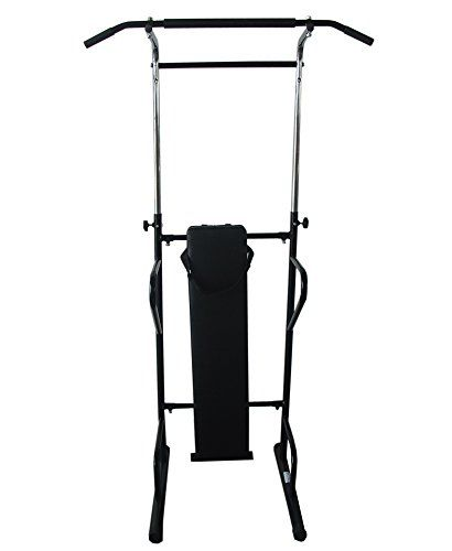 FoxHunter Fitness Power Tower Dip Gym Station 2 Abs Pull Press Push Sit Up Bar Bench Chin-up Knee Leg Raise Workout Exercise
