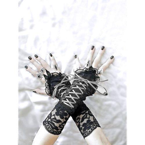 Společenské dámské černé rukavice 04802 / Zboží prodejce Gothic Burlesque shop | Fler.cz