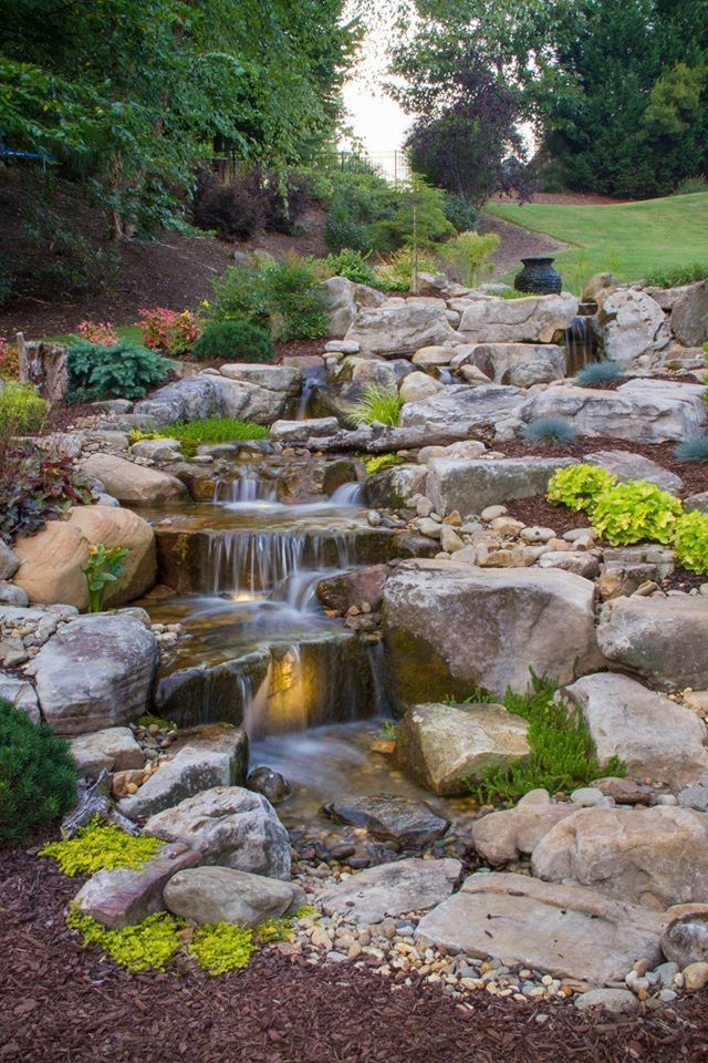 915 best Backyard waterfalls and streams images on ... on Backyard Stream Ideas id=44204
