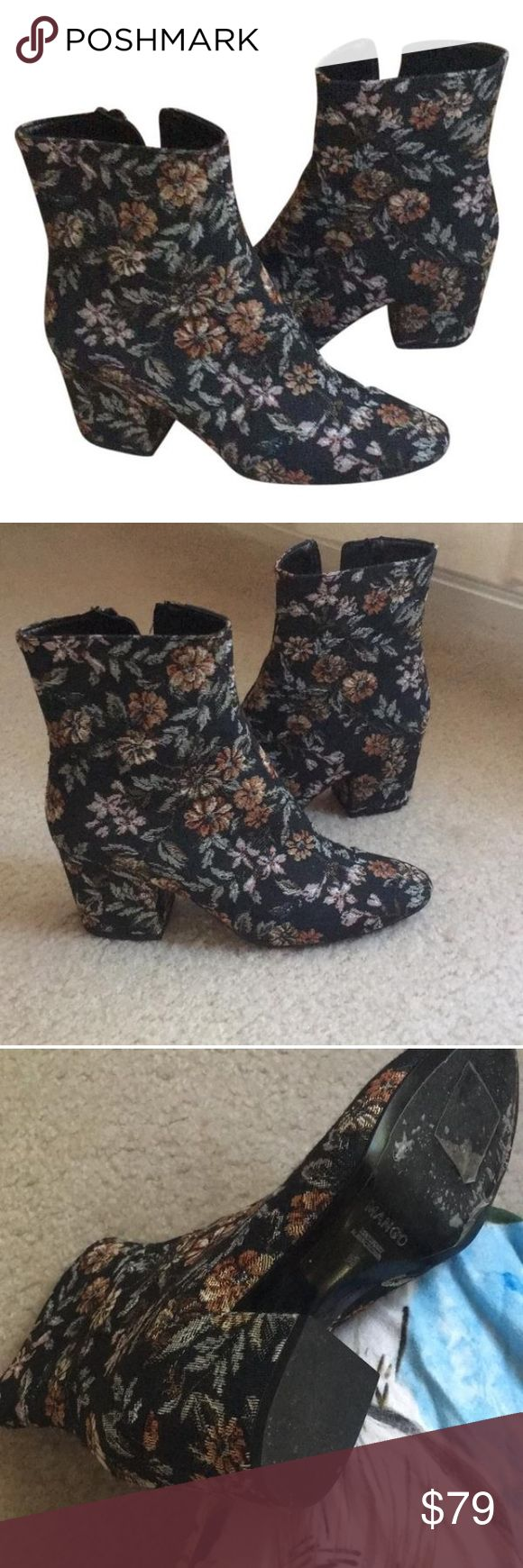 Mango boots Worm one hour! Size 36 made in Spain! Super cute Boothies Mango Shoes Ankle Boots & Booties