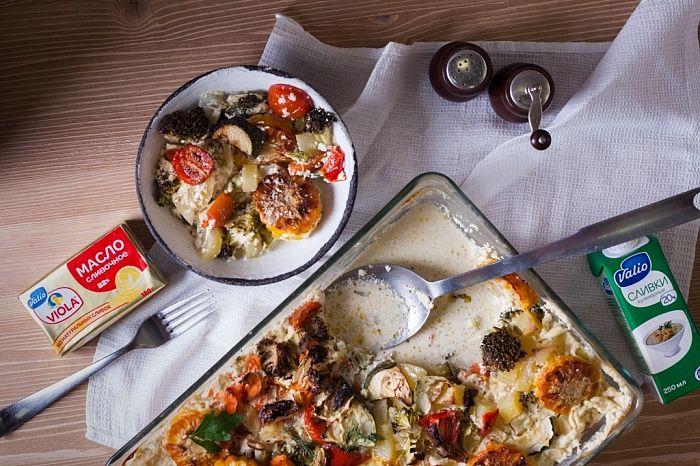 Рагу из сезонных овощей со сливочным соусом - пошаговый рецепт приготовления с фото