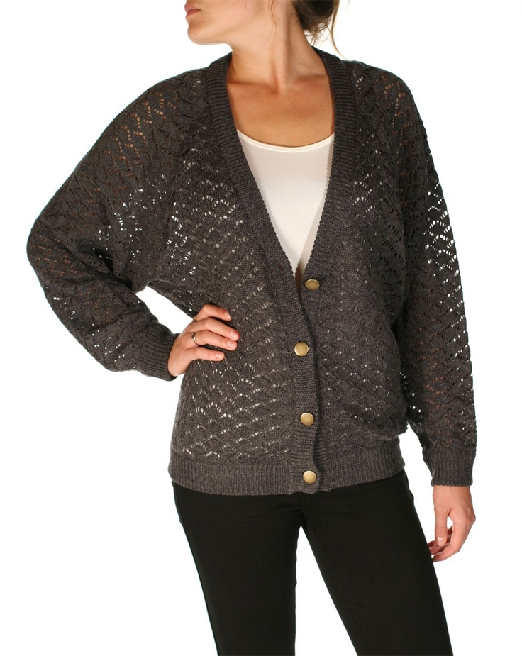 Snugg Cardi in Charcoal by Huffer