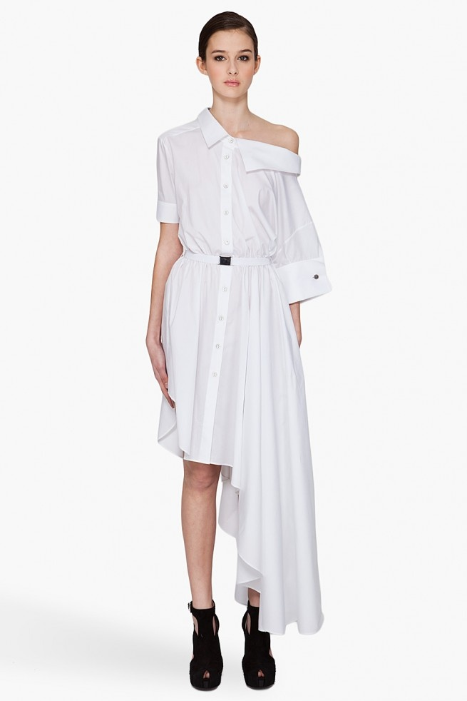 I'm really into long and loose shirt dresses these days, with an experimental edge.