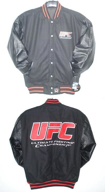 Mixed Martial Arts MMA 177913: Size 2Xl Ufc Boxing Wool Leather Reversible Jacket Xxl -> BUY IT NOW ONLY: $99 on eBay!