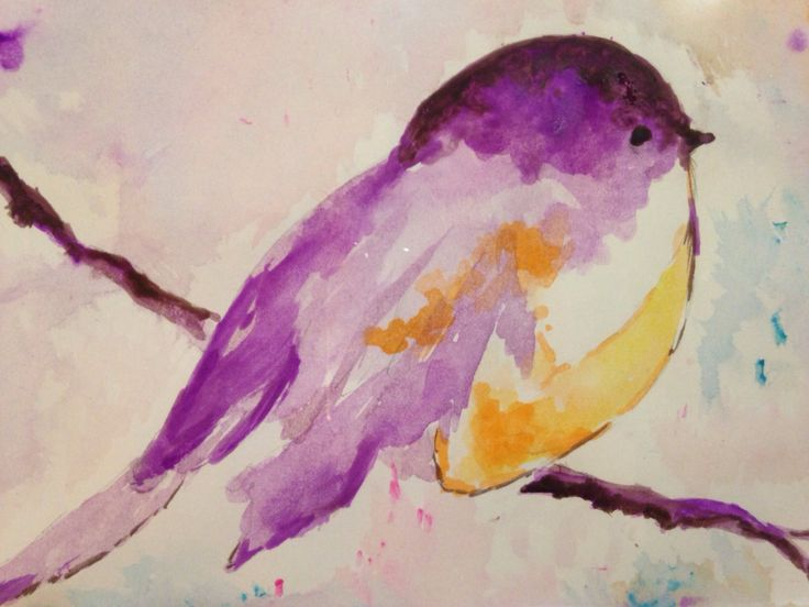Water Painting DIY «by monica» # watercolor # birds