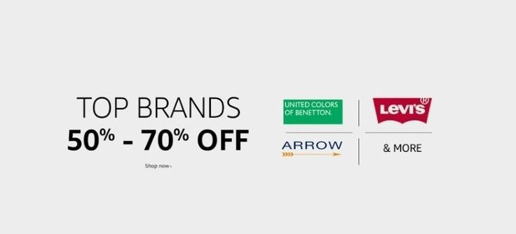 Get up to 70% off on fashion at Amazon India
